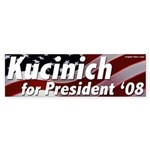 Kucinich for President '08 bumper sticker