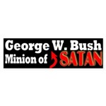 George W. Bush: Minion of Satan (sticker