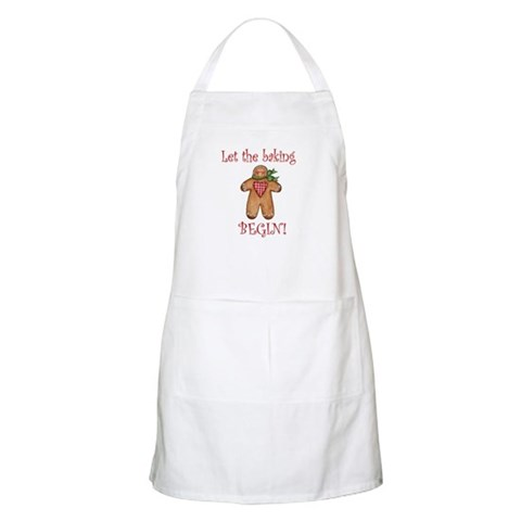 Let the Christmas baking begi BBQ Holiday Apron by CafePress