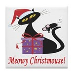 Meowy Christmouse! Tile Coaster