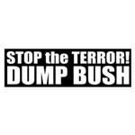 Stop the Terror! Dump Bush (Sticker)