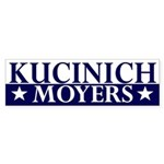 Kucinich-Moyers 2008 bumper sticker