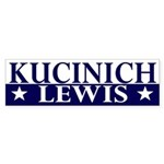 Kucinich-Lewis 2008 bumper sticker