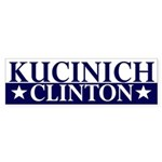 Kucinich-Clinton 2008 bumper sticker