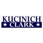Kucinich-Clark 2008 bumper sticker