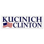 Kucinich-Clinton 2008 Sticker (Bumper)