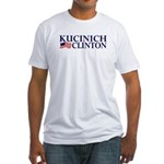 Kucinich-Clinton 2008 Fitted T-Shirt