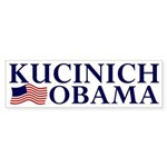 Kucinich-Obama 2008 Sticker (Bumper)