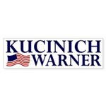 Kucinich-Warner 2008 Sticker (Bumper)