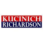 Kucinich-Richardson 2008 bumper sticker