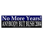No More Years Bumper Sticker