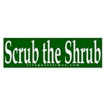 Scrub the Shrub (bumper sticker)