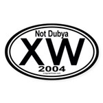 X W 2004 Sticker (Oval)