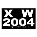 X W 2004 Sticker (Rectangular)