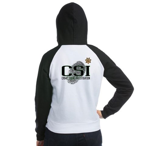 CSI  Tv show Women's Raglan Hoodie by CafePress