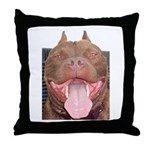 Pit Bull Throw Pillow