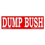 Dump Bush Sticker (Bumper)