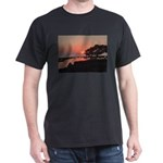 Tree by the Ocean at Sunset T-Shirt