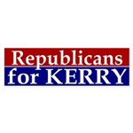 Republicans for Kerry Sticker (Bumper)