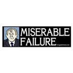 Bush: Miserable Failure Sticker (Bumper)