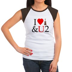 I Luv Violin and U Cap Sleeve T-Shirt