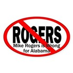 Rogers is Wrong for Alabama bumper sticker