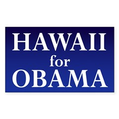 Hawaii for Obama Sticker (Rectangular)