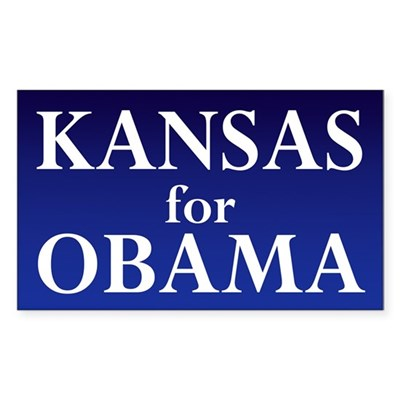 Kansas for Obama Bumper Sticker