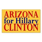 Arizona for Hillary Clinton Sticker (Rectangular)