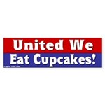 United We Eat Cupcakes Bumper Sticker