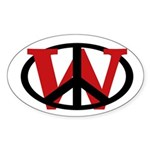 Peace Overrules W Sticker (Oval)