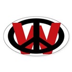 Peace Over W (Oval Sticker)