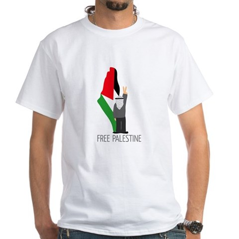 Product Image of Free Palestine with map of pa White T-Shirt