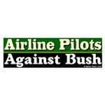 Pilots Against Bush Bumper Sticker