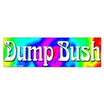 Groovy Dump Bush Bumper Sticker