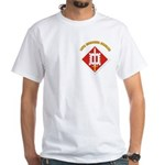 SSI-18th Engineer Brigade with text White T-Shirt