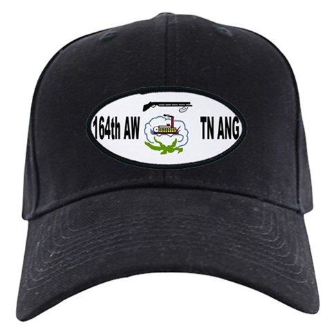 164th Airlift Wing  Military Black Cap by CafePress