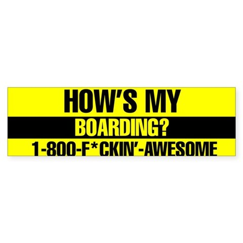 1-800-FCKIN' AWESOME Cool Bumper Sticker by CafePress
