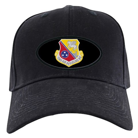 134th Air Refueling Wing  2 Military Black Cap by CafePress