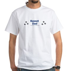Basset Dad White T-Shirt
