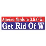 America Needs to GROW Sticker (Bumper)
