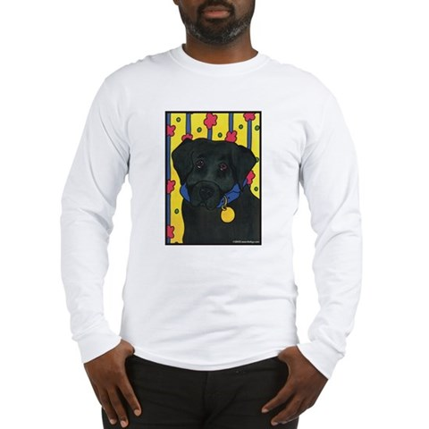 The Black Lab Labrador Long Sleeve T-Shirt