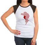 Cap Sleaved Tee - Wild Haired Victorian Lady - Red