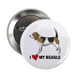 """I Heart My Beagle 2.25"""" Button (10 pack)"""