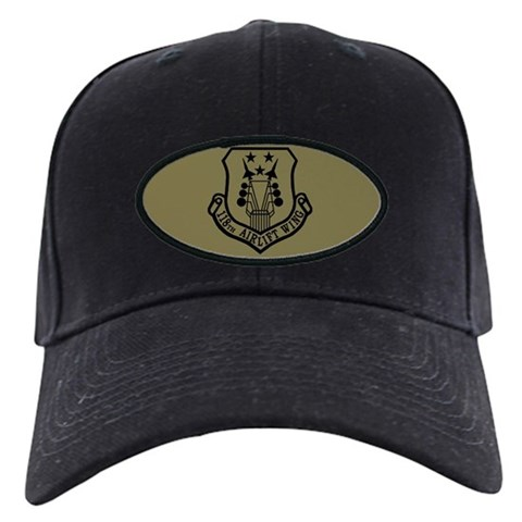 118th Airlift Wing  3 Military Black Cap by CafePress