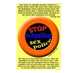 Stop Republican Sex Police Postcards (8)