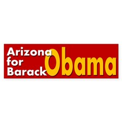 Arizona for Barack Obama car sticker
