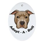 Adopt-A-Bull 1 Ornament (Oval)