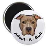 "Adopt-A-Bull 1 2.25"" Magnet (100 pack)"