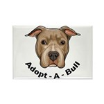Adopt-A-Bull 1 Rectangle Magnet (100 pack)